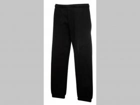 hrubé detské tepláky čierne,  materiál 70%bavlna 30%polyester, značka Fruit of The Loom