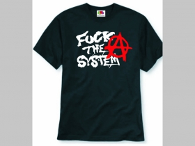 Anarchy - Fuck The System pánske tričko 100%bavlna značka Fruit of The Loom