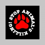 Stop Animals Killing  trenírky BOXER s červenými prúžkami, top kvalita 95%bavlna 5%elastan