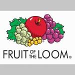 Fruit of The Loom, žltá mikina s kapucou stiahnutelnou šnúrkami a klokankovým vreckom vpredu
