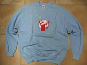 SPRAYER, pánska mikina FRUIT OF THE LOOM s tlačeným logom 80%bavlna 20%polyester, farba bledomodrá, posledný kus veľkosť XL