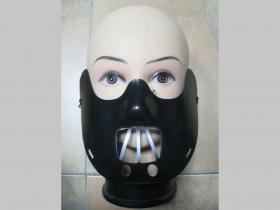 Hannibal Lecter, plastová maska v zadu s gumičkou na uchytenie