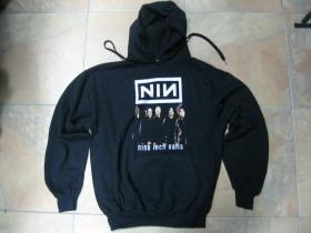 Nine Inch Nails  čierna mikina s kapucou stiahnutelnou šnúrkami a klokankovým vreckom vpredu