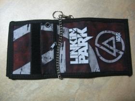 Linkin Park hrubá pevná textilná peňaženka s retiazkou a karabínkou