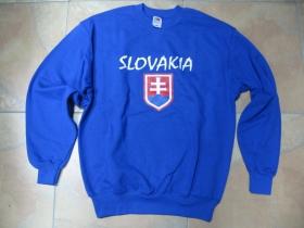 Slovensko - Slovakia royal ( kráľovská ) modrá mikina bez kapuce