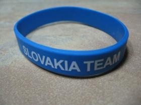 Slovakia team pružný silikónový náramok