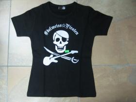 Edelweiss Piraten  čierne dámske tričko 100%bavlna