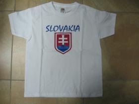 Slovakia - Slovensko biele detské tričko 100%bavlna značka Fruit of The Loom