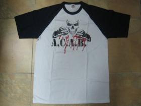 A.C.A.B. tmavomodrobiele pánske tričko 100%bavlna