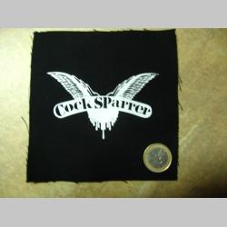 Cock Sparrer potlačená nášivka rozmery cca. 12x12cm (po krajoch neobšívaná)