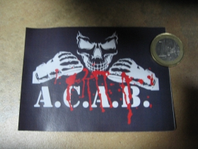 A.C.A.B. nálepka 10x7xm