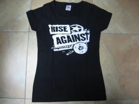 Rise Against  čierne dámske tričko 100%bavlna
