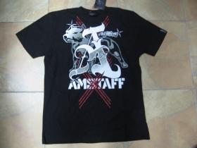 Amstaff Amstaff čierne pánske tričko PROTEUS  (u tohto modelu máte poštovné automaticky grátis!!!)