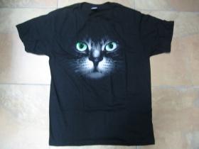 mačka  pánske tričko čierne 100%bavlna