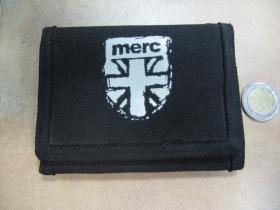 Merc London hrubá pevná čierna textilná peňaženka    posledný kus!!!