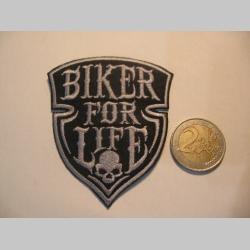 Bike for Life nažehľovacia nášivka vyšívaná (možnosť nažehliť alebo našiť na odev)