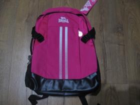 Lonsdale ruksak v ružovo-čierno-bielej farbe s rozmermi cca. 43x29x14cm, materiál 100%polyester posledný kus!!!!