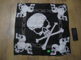 smrtka - lebka - Šatka materiál: 100%bavlna, rozmery: cca.52x52cm