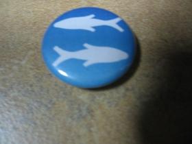 znamenie ryby, odznak priemer 25mm