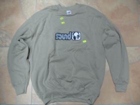 SOUND, pánska mikina FRUIT OF THE LOOM s tlačeným logom 80%bavlna 20%polyester, farba béžová posledný kus veľkosť L