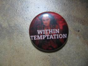 Within Temptation,  odznak, priemer 25mm