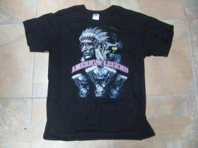American Legend  čierne pánske tričko 100%bavlna