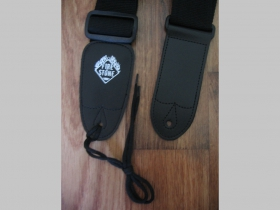 Gitarový pás Fire Stone, nastaviteľná veľkosť, materiál Nylón  farba čierna