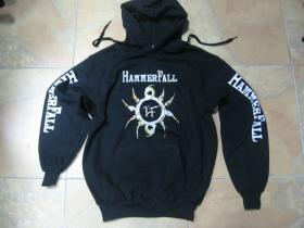 HammerFall  čierna mikina s kapucou 80%bavlna 20%polyester
