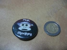 Pink Monkey odznak veľký, priemer 55mm