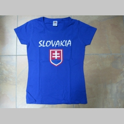 Slovakia - Slovensko, slovenský znak, royal modré dámske tričko Fruit of The Loom 100%bavlna