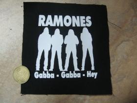 Ramones Gabba Gabba Hey   potlačená nášivka rozmery cca. 12x12cm (po krajoch neobšívaná