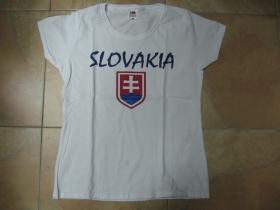 Slovakia - Slovensko biele dámske tričko 100%bavlna značka Fruit of The Loom