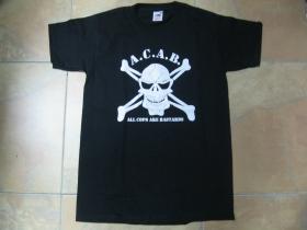 A.C.A.B. smrtka   pánske tričko 100%bavlna Fruit of The Loom