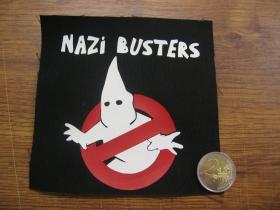 Antifašista Nazi Busters  potlačená nášivka rozmery cca. 12x12cm (po krajoch neobšívaná)