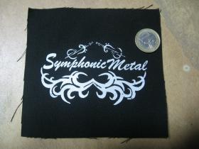 Symphonic Metal  potlačená nášivka rozmery cca. 12x12cm (po krajoch neobšívaná