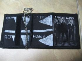Depeche Mode  hrubá pevná textilná peňaženka s retiazkou a karabínkou