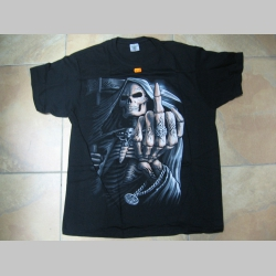 Smrtka Fuck off  čierne pánske tričko 100%bavlna