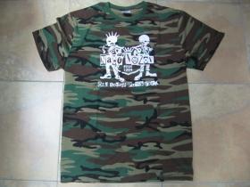 Načo Názov Old School Punkrock pánske maskáčové tričko 100%bavlna