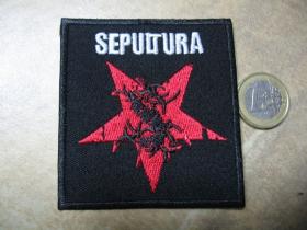 Sepultura nažehľovacia nášivka vyšívaná (možnosť nažehliť alebo našiť na odev)