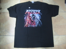 Accept čierne pánske tričko materiál 100%bavlna