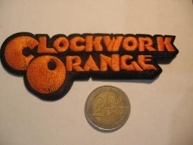 Clockwork Orange nažehľovacia nášivka vyšívaná (možnosť nažehliť alebo našiť na odev)