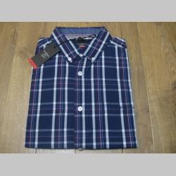 pánska károvaná košeľa s krátkym rukávom, materiál: 100%bavlna farba modro-červeno-biela