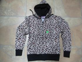 """Dámska mikina """"Leopard"""" na zips s kapucou 80%bavlna 20%polyester"""