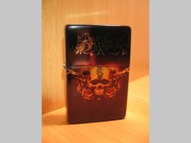 Bullet For My Valentine, doplňovací benzínový zapalovač s vypalovaným obrázkom (balené v darčekovej krabičke)