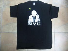 N.V.Ú.  čierne pánske tričko 100%bavlna