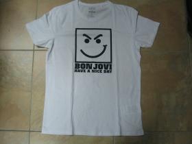 Bon Jovi biele pánske tričko 100%bavlna