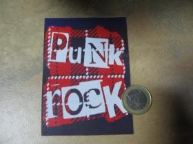Punk rock nálepka 10x7xm