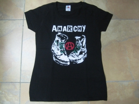 Anarchy boty  dámske tričko Fruit of The Loom 100%bavlna