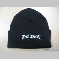 Pit Bull  zimná čiapka čierna s vyšívaným logom 100%akryl univerzálna veľkosť