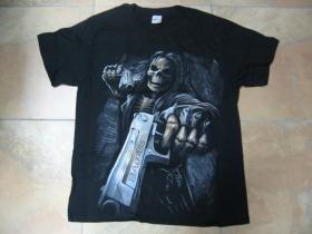 "smrtka "" tattoo "" pánske tričko čierne 100%bavlna"